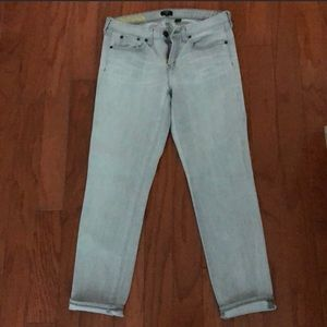 Cute j crew toothpick jeans grey/ blue